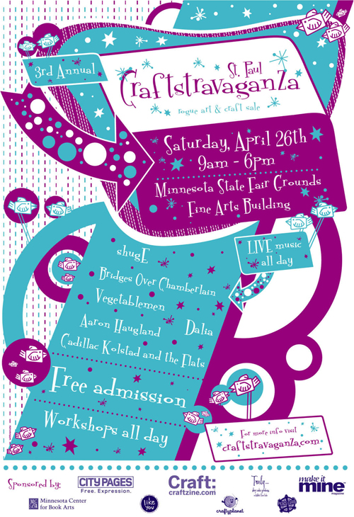 3rd Annual Craftstravaganza Poster